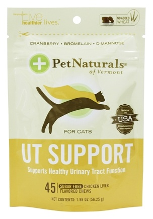 DROPPED: Pet Naturals of Vermont - Urinary Tract Support for Cats Soft Chews - 45 Chewable Tablets