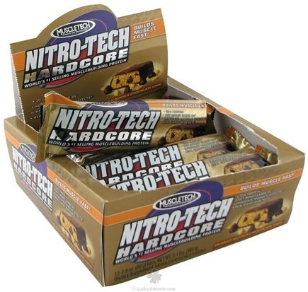 DROPPED: Muscletech Products - Nitro-Tech Hardcore Bar Peanut Butter Chocolate Chip - 2.8 oz.