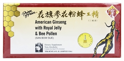 Prince of Peace - American Ginseng Extract with Royal Jelly and Bee Pollen 10 x 10 cc Bottles