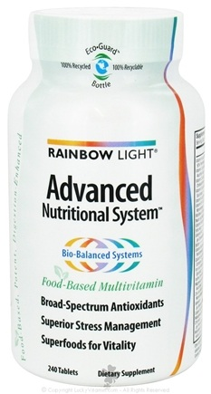 DROPPED: Rainbow Light - Advanced Nutritional System Multivitamin - 240 Tablets