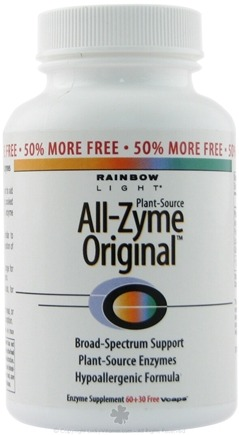 DROPPED: Rainbow Light - All-Zyme Original Clearance Priced - 90 Vegetarian Capsules