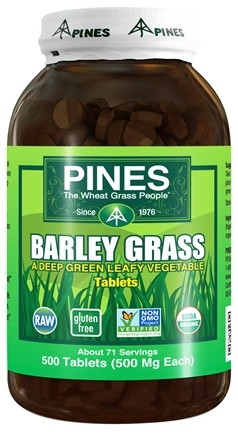 Pines - Barley Grass Tablets - 500 Tablets