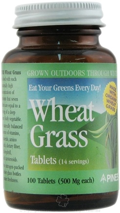 DROPPED: Pines - Wheat Grass Tabs 500 mg. - 100 Tablets
