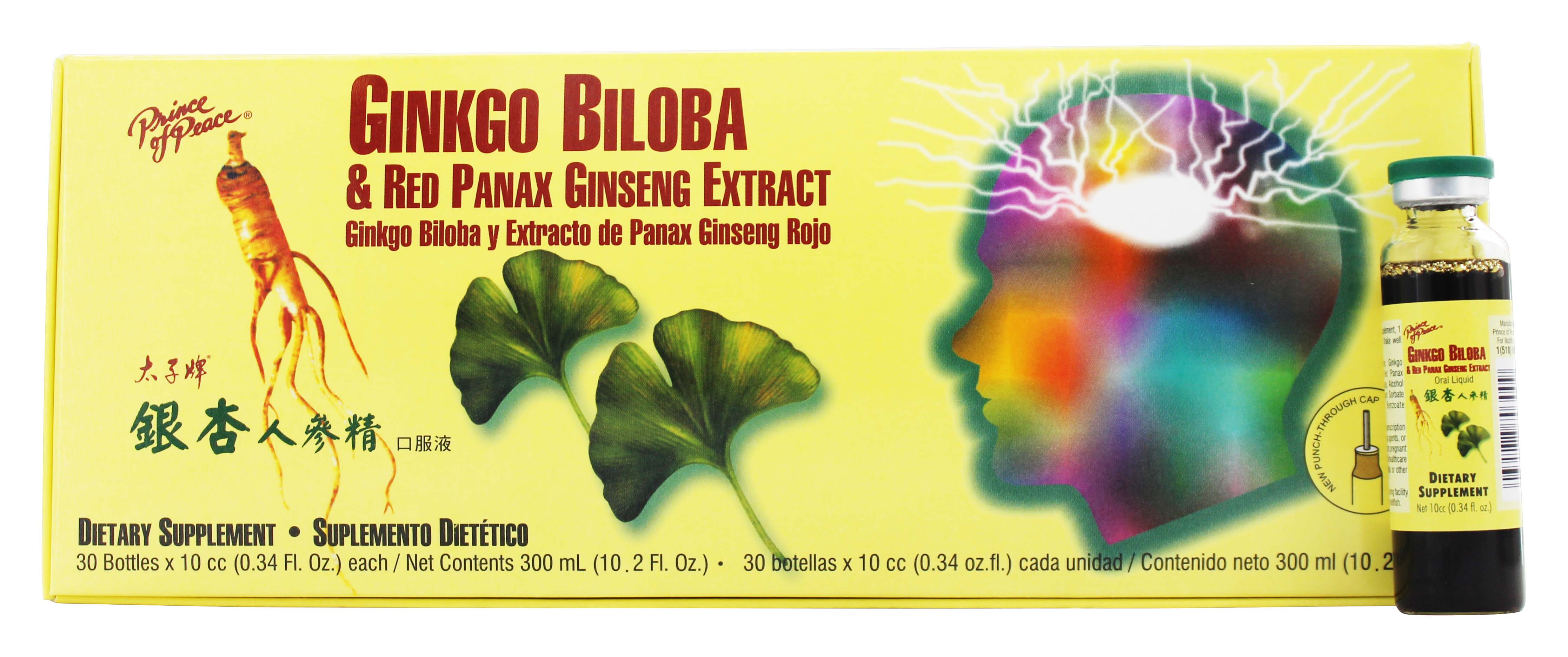 Prince of Peace - Ginkgo Biloba Red Panax Ginseng Extract - 30 Bottle(s)