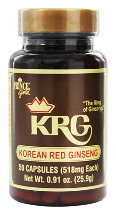 Prince of Peace - Korean Red Ginseng 518 mg. - 50 Capsules