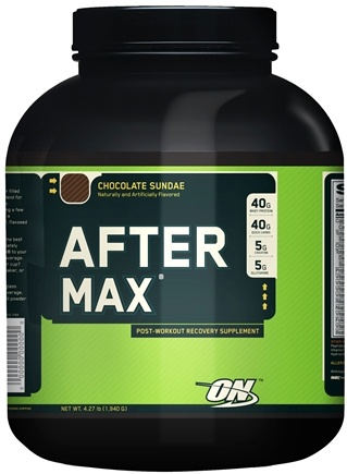 DROPPED: Optimum Nutrition - After Max Post-Workout Maximum Recovery Chocolate Sundae - 4.27 lbs.