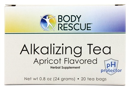 Body Rescue - Alkalizing Tea Apricot Flavor - 20 Tea Bags