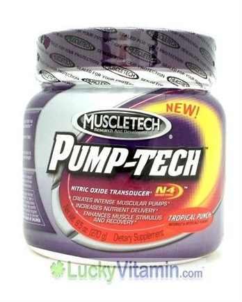 DROPPED: Muscletech Products - Pump-Tech - Nitric Oxide Transducer Tropical Punch - 9.5 oz.