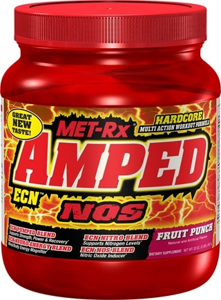 DROPPED: MET-Rx - Amped ECN NOS Drink Mix Fruit Punch - 2 lbs. CLEARANCE PRICED