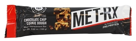 MET-Rx - Big 100 Meal Replacement Bar Chocolate Chip Cookie Dough - 3.52 oz.