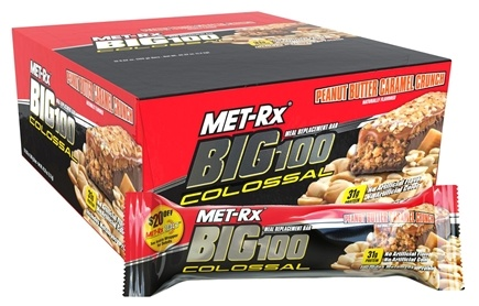 DROPPED: MET-Rx - Big 100 Colossal Meal Replacement Bar Peanut Butter Caramel Crunch - 3.52 oz. CLEARANCE PRICED