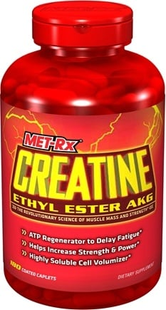 DROPPED: MET-Rx - Creatine Ethyl Ester AKG - 180 Tablets CLEARANCE PRICED