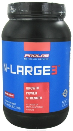 DROPPED: Prolab Nutrition - N-Large 3 Wild Strawberry - 3.8 lbs. (formerly N large II) CLEARANCE PRICED