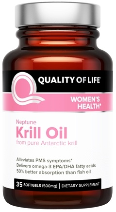 DROPPED: Quality Of Life Labs - Neptune Krill Oil Women's Health 500 mg. - 35 Softgels CLEARANCE PRICED