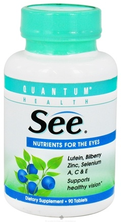 DROPPED: Quantum Health - SEE with Lutein, Nutrition for Eyes - 90 Tablets CLEARANCE PRICED