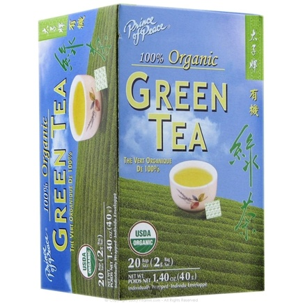 DROPPED: Prince of Peace - Organic Green Tea - 20 Tea Bags CLEARANCE PRICED