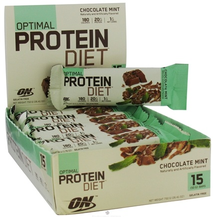 DROPPED: Optimum Nutrition - Optimal Protein Diet Bar Chocolate Mint - 1.76 oz. Formerly Complete Protein Diet