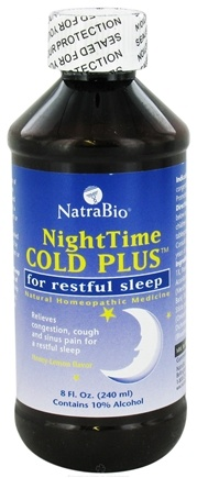 DROPPED: NatraBio - Nighttime Cold Plus Syrup - 8 oz. CLEARANCE PRICED