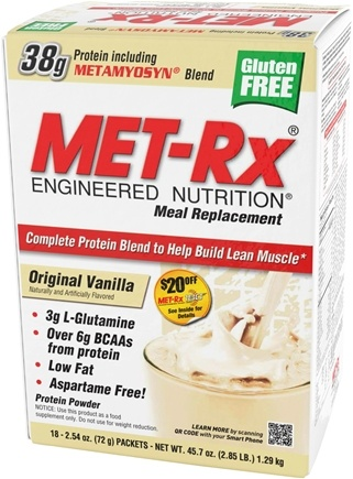 DROPPED: MET-Rx - Meal Replacement Protein Supplement Powder Original Vanilla - 18 Packet(s) CLEARANCE PRICED