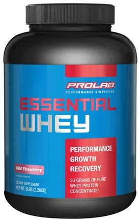 DROPPED: Prolab Nutrition - Essential Whey Powder Wild Strawberry - 5 lbs. formerly Pure Whey  CLEARANCE PRICED