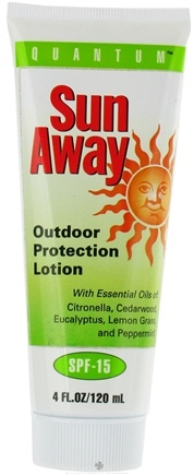 DROPPED: Quantum Health - Sun Away Outdoor Protection Lotion 15 SPF - 4 oz. CLEARANCE PRICED