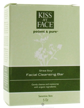 DROPPED: Kiss My Face - Potent & Pure Shea Soy Facial Cleansing Bar - 5 oz. CLEARANCE PRICED