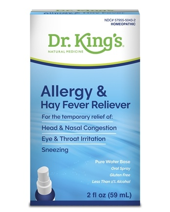 King Bio - Homeopathic Natural Medicine Allergy & Hay Fever Reliever - 2 oz.
