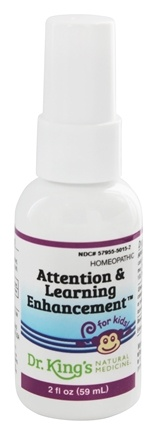 King Bio - Homeopathic Natural Medicine Attention & Learning Enhancement For Kids - 2 oz.