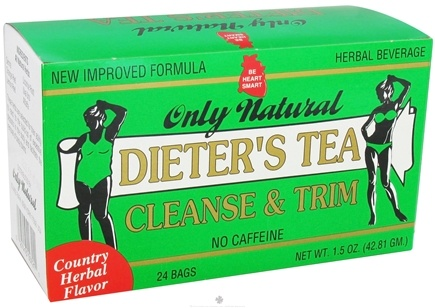 DROPPED: Only Natural - Dieter's Tea Cleanse & Trim Country Herbal Flavor - 24 Tea Bags CLEARANCED PRICED