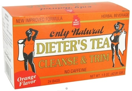 DROPPED: Only Natural - Dieter's Tea Cleanse & Trim Orange Flavor - 24 Tea Bags CLEARANCED PRICED
