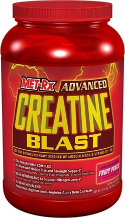 DROPPED: MET-Rx - Advanced Creatine Blast RTC Fruit Punch - 3.17 lbs. CLEARANCE PRICED