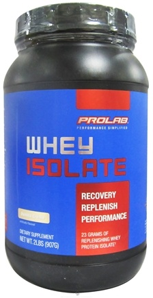 DROPPED: Prolab Nutrition - Whey Protein Isolate Powder Vanilla Creme - 2 lbs. CLEARANCE PRICED