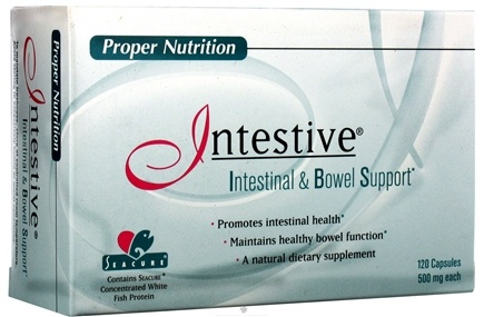 DROPPED: Proper Nutrition - Intestive 500 mg. - 120 Capsules