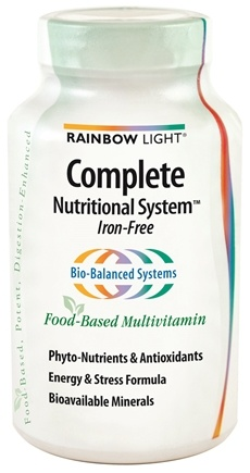 DROPPED: Rainbow Light - Complete Nutritional System Iron-Free - 90 Tablets
