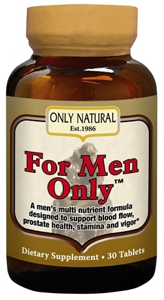 DROPPED: Only Natural - For Men Only Super Potent Male Formula - 30 Tablets CLEARANCED PRICED
