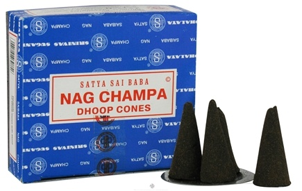 DROPPED: Nag Champa - Satya Sai Baba Incense Dhoop Cones - 12 Pack(s) CLEARANCE PRICED