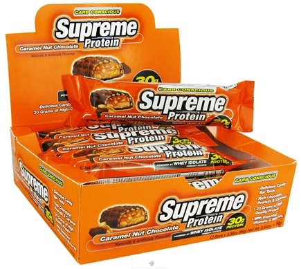 DROPPED: Supreme Protein - Carb Conscious Bar Caramel Nut Chocolate - 3.38 oz.