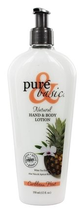 Pure & Basic - Natural Hand & Body Lotion Caribbean Heat - 12 oz.