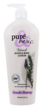 Pure & Basic - Natural Hand & Body Lotion Lavender Rosemary - 12 oz.