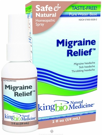 DROPPED: King Bio - Homeopathic Natural Medicine Migraine Relief - 2 oz. CLEARANCE PRICED