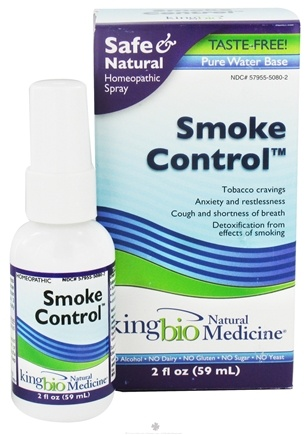 DROPPED: King Bio - Homeopathic Natural Medicine Smoke Control - 2 oz. CLEARANCED PRICED