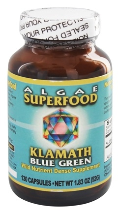 Klamath - Blue Green Algae Superfood - 130 Capsules Formerly Enzyme Enhanced