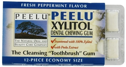 DROPPED: Peelu - Dental Chewing Gum Peppermint Flavor - 12 Piece(s)