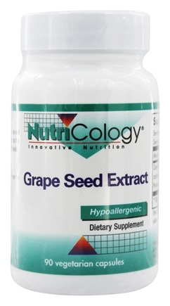 DROPPED: Nutricology - Grape Seed Extract - 90 Vegetarian Capsules