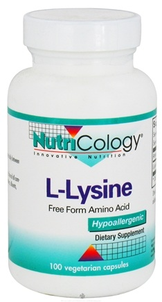 DROPPED: Nutricology - L-Lysine 500 mg. - 100 Vegetarian Capsules