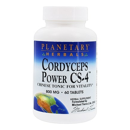 DROPPED: Planetary Herbals - Cordyceps Power CS-4 800 mg. - 60 Tablets Formerly Planetary Formulas CLEARANCED PRICED