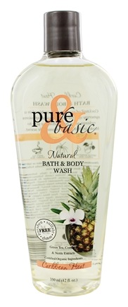 DROPPED: Pure & Basic - Natural Bath & Body Wash Caribbean Heat - 12 oz.