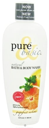 DROPPED: Pure & Basic - Natural Bath & Body Wash Grapefruit Verbena - 12 oz.