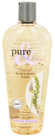 DROPPED: Pure & Basic - Natural Bath & Body Wash Lavender Rosemary - 12 oz.