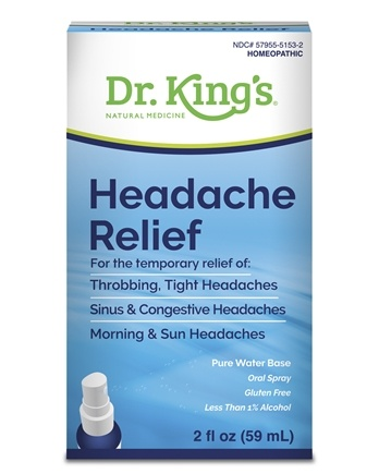 King Bio - Homeopathic Natural Medicine Headache Relief - 2 oz.